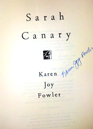 Image for SARAH CANARY (SIGNED)