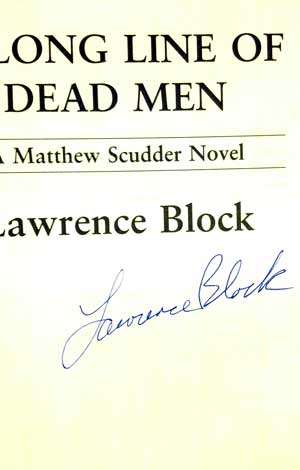 Image for A LONG LINE OF DEAD MEN (SIGNED)