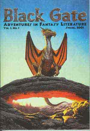 Image for BLACK GATE: ADVENTURES IN FANTASY LITERATURE (VOL. 1 NO. 1, SPRING 2001) (SIGNED)