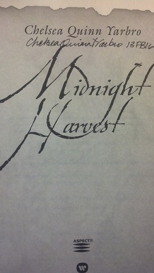 Image for MIDNIGHT HARVEST: FROM THE CHRONICLES OF SAINT-GERMAIN (SIGNED)