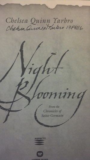 Image for NIGHT BLOOMING: FROM THE CHRONICLES OF SAINT-GERMAIN (SIGNED)