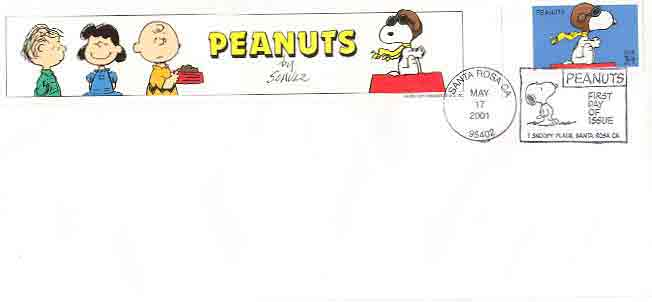 Image for COMMEMORATIVE SNOOPY STAMP - LIMITED ISSUE STAMP WITH PICTORIAL BORDER ENVELOPE