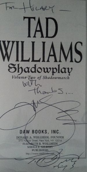 Image for SHADOWPLAY: VOLUME TWO OF SHADOWMARCH (SIGNED)