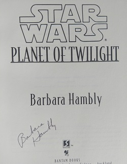 Image for STAR WARS: PLANET OF TWILIGHT (SIGNED)
