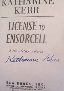 Image for LICENSE TO ENSORCELL (SIGNED)