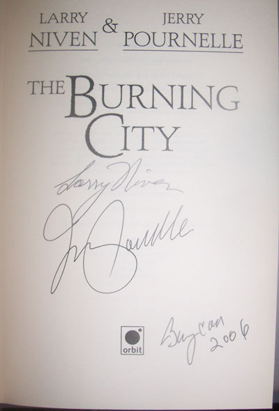Image for BURNING CITY [THE] (SIGNED)